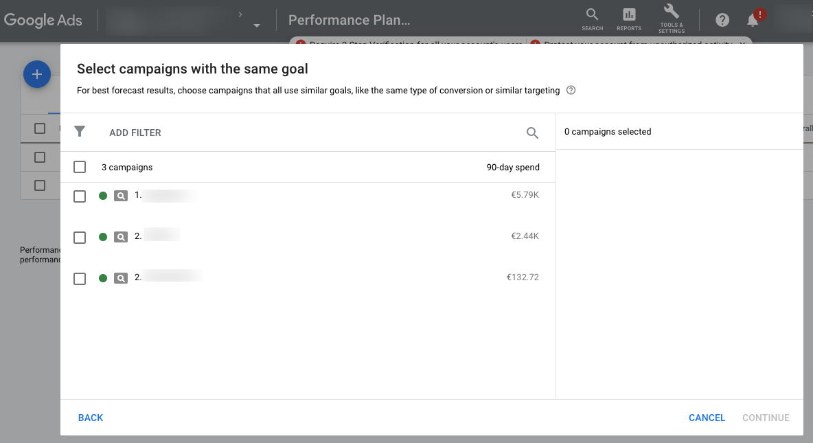Performance-Planner-Google-Ads-Select-Campaigns