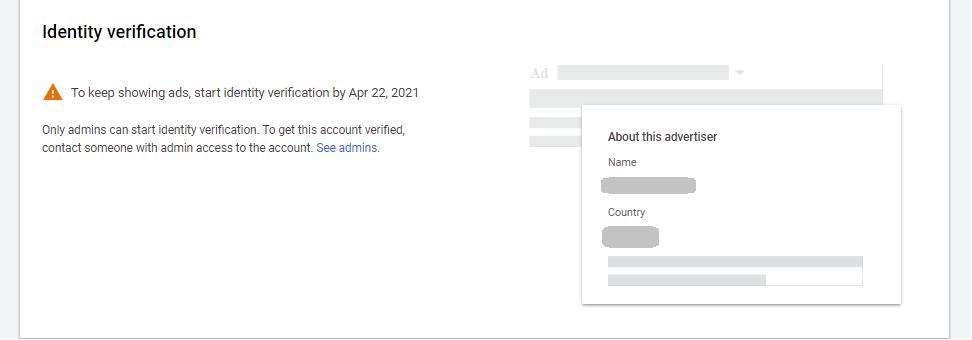 Верификация на Google Ads акаунт - Accella Digital Blog